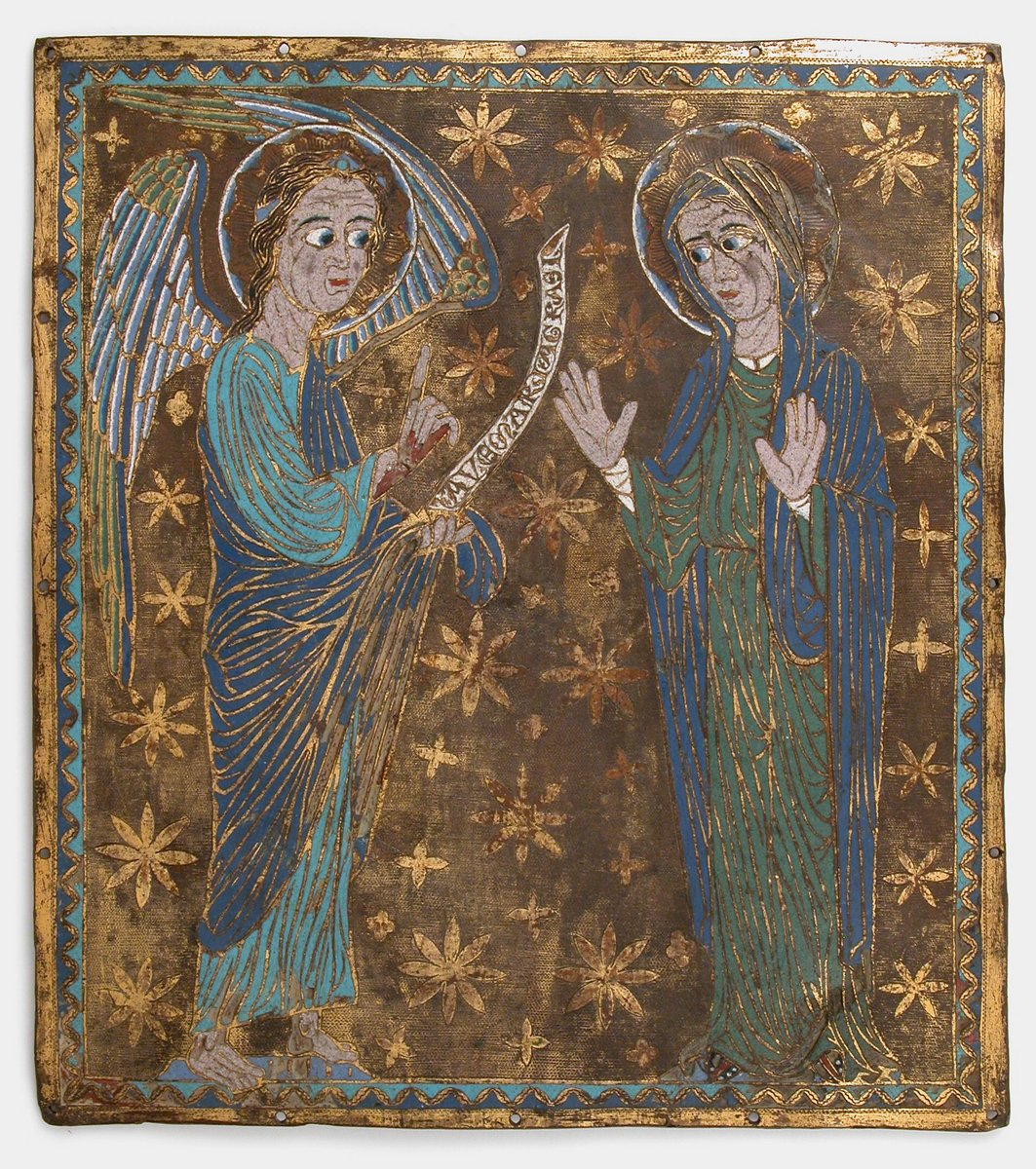 Plaque with the Annunciation  #MedievalArt #themet