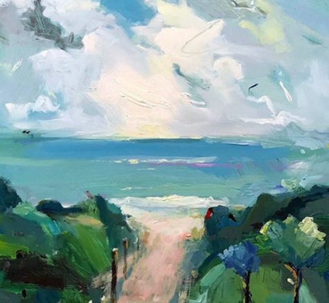 """Beach Track at Queenscliff"", 61X75cm, oil on board.  #artoftheday #abstractexpressionist #artgallerypic.twitter.com/mBOyg6qEuT"