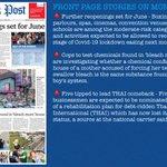 Image for the Tweet beginning: Bangkok Post headlines on Monday: