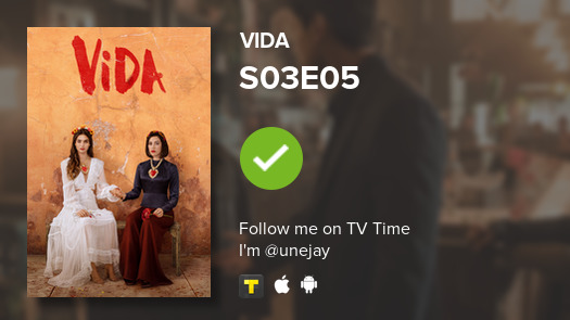 ? watched Vida S03E05: Episode 21 #vida  #tvtime https://tvtime.com/r/1mI8Zpic.twitter.com/DRMaGfgTA7