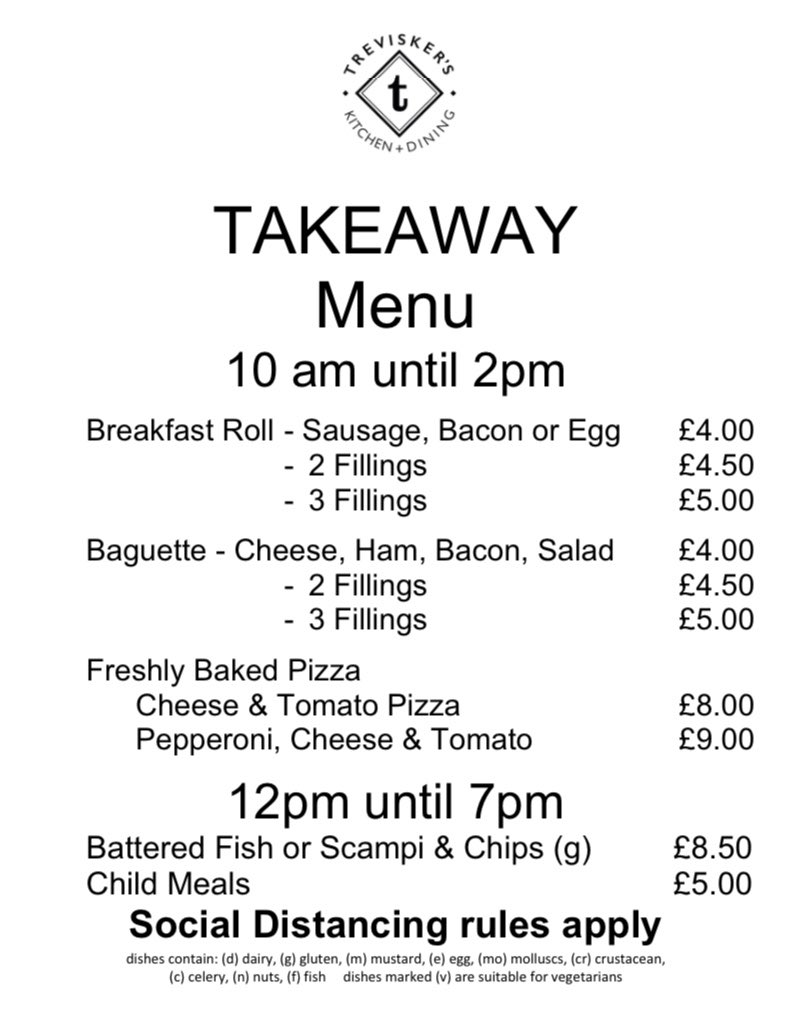 BREAKFAST, LUNCH and DINNER to TAKEAWAY   01841 541361 option 2 to order Collect and pay Walk-in customers welcome, please follow #socialdistancing rules #takeaway #food #breakfast #bacon #sausage #eggs #baguettes  #treviskergardencentre  #padstow  #cornwallpic.twitter.com/aT1yvn75Ee