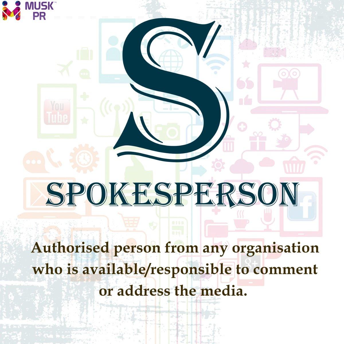 S for Spokesperson  #muskpublicrelations #Jaipur #AtoZpic.twitter.com/pW7qt5GOTt