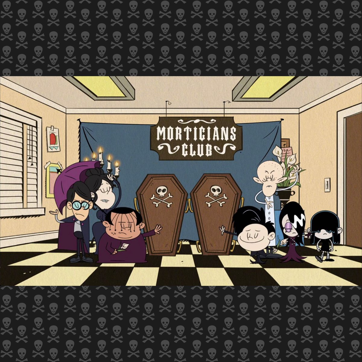 Here's to the Morticians Club!😈🖤💀🦇🥀⚰️🌑🧛🏼‍♀️#TheLoudHouse #goths #WorldGothDay #WorldGothDay2020