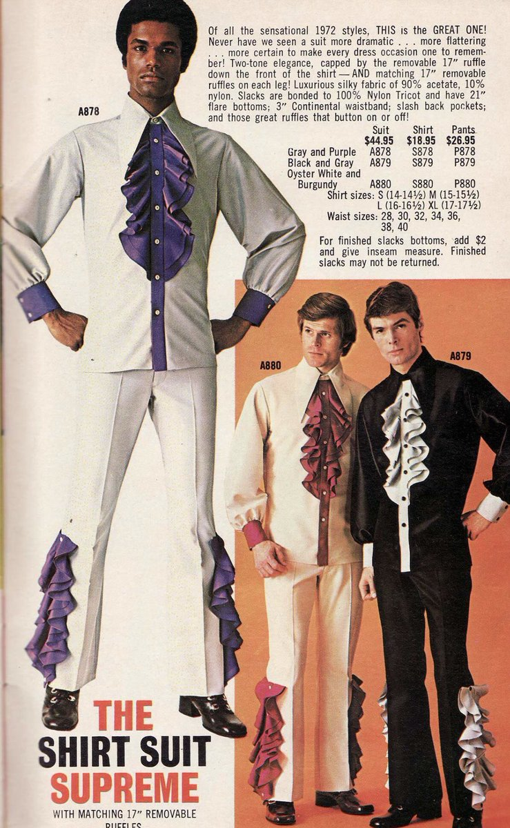 THIS is the GREAT ONE! Never have we seen a suit more dramatic... #1970s #fashion #menswearpic.twitter.com/bjxkBifWW8