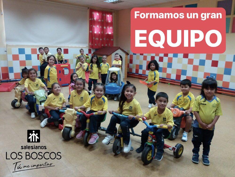 """En #SalesianosLosBoscos todos formamos parte de un GRAN EQUIPO  """"Ninguno de nosotros es más importante que el resto de nosotros"""".  #LosBoscos #TÚMeImportas #TÚEncajasAquí #DonBosco #MaríaAuxiliadora #Escolarización #Matrícula #Infantil #Primaria #Secundaria #FPpic.twitter.com/YXiu67sD1j"""