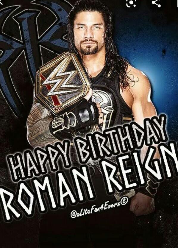 Happy birthday legend  #HappyBirthdayRomanReigns  #WWERaw  <br>http://pic.twitter.com/wFLzFDZXNB