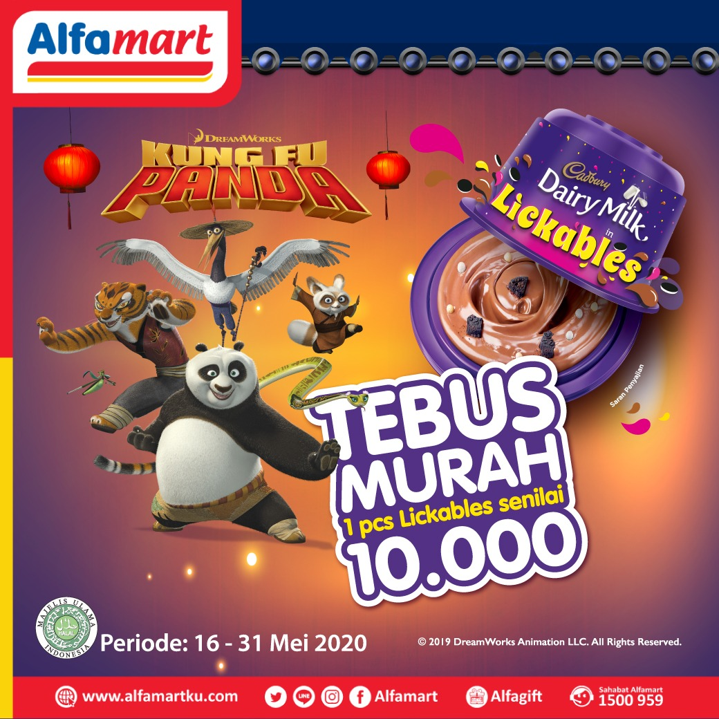 Tebus 1 pcs Cadburry Lickable senilai Rp 10.000 dengan lakukan pembelanjaan min. Rp 50.000 pastinya di #Alfamart dekat rumah aja ya Sahabat (tidak berlaku kelipatan) . Periode s.d 31 Mei 2020 . #AlfamartMelayaniIndonesia #AlfamartTerdekatAja #RamadhanDirumahAja #SemuaPastiDapatpic.twitter.com/TaurLdvvrO