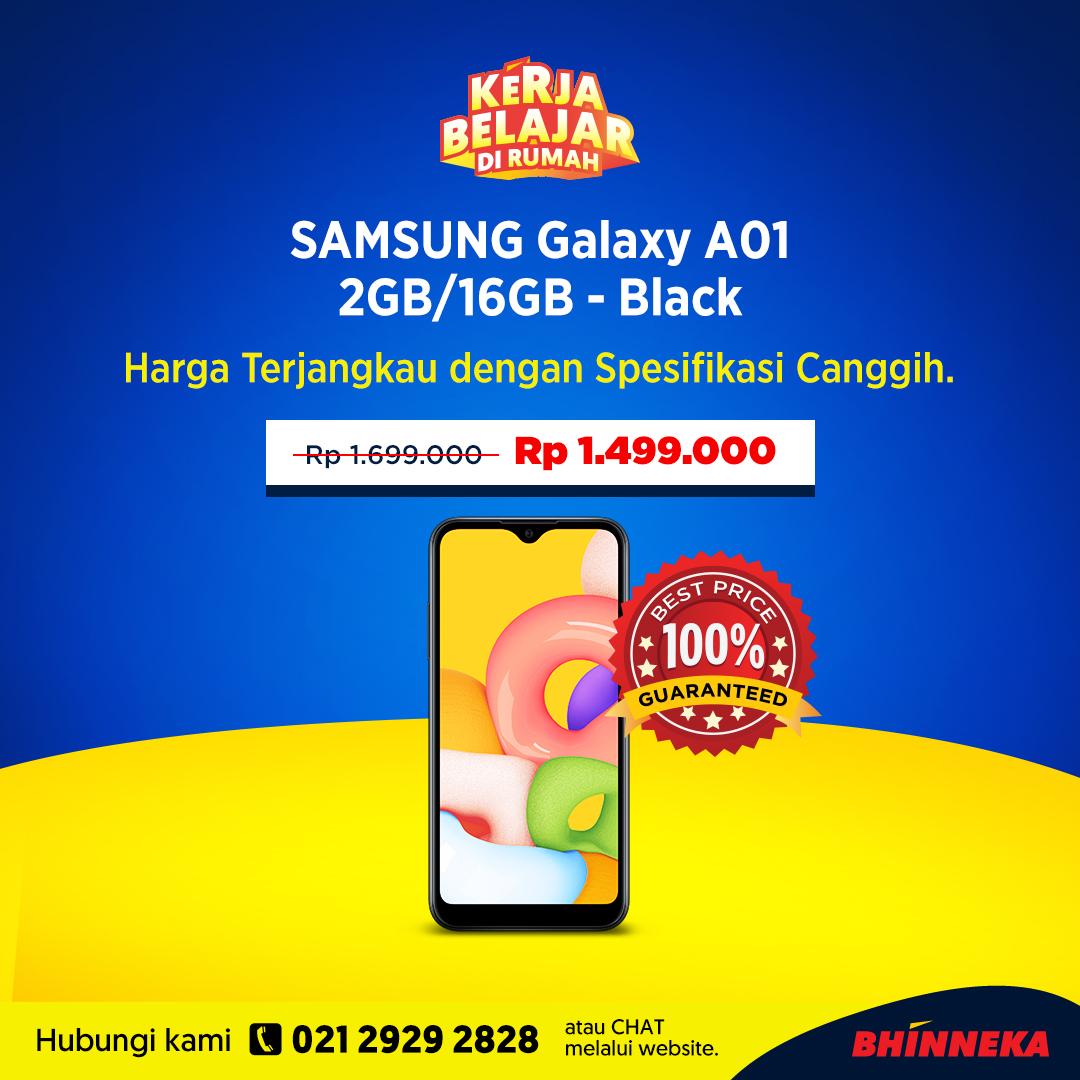 Ada SAMSUNG Galaxy A01 2GB/16GB. Cek di https://bhnk.co/GalaxyA01-TW  GRATIS ONGKIR SE-INDONESIA dengan kode DIRUMAHAJA.  #SingleProduct #InfoPromo #PromoMei #InfoDiskon #BelanjaBisnisjadiPraktis #BelanjaBisnis #InfoBisnis #Procurementpic.twitter.com/27TmshYAGb