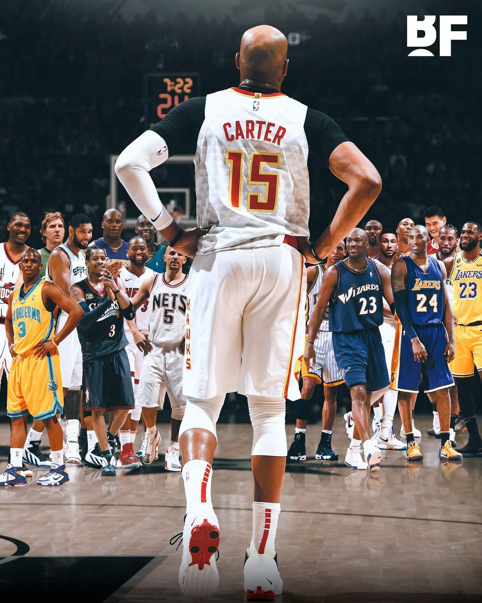 Vince Carter has played with or against nearly 40% of all players in the HISTORY of the NBA.  A total of 4,509 players have played in the NBA.   In his 22 seasons in the league, Vince has been teammates with or played against 1,672 (37.081%) of those players.  (h/t u/babyyodavan) https://t.co/MYrODcPNZL