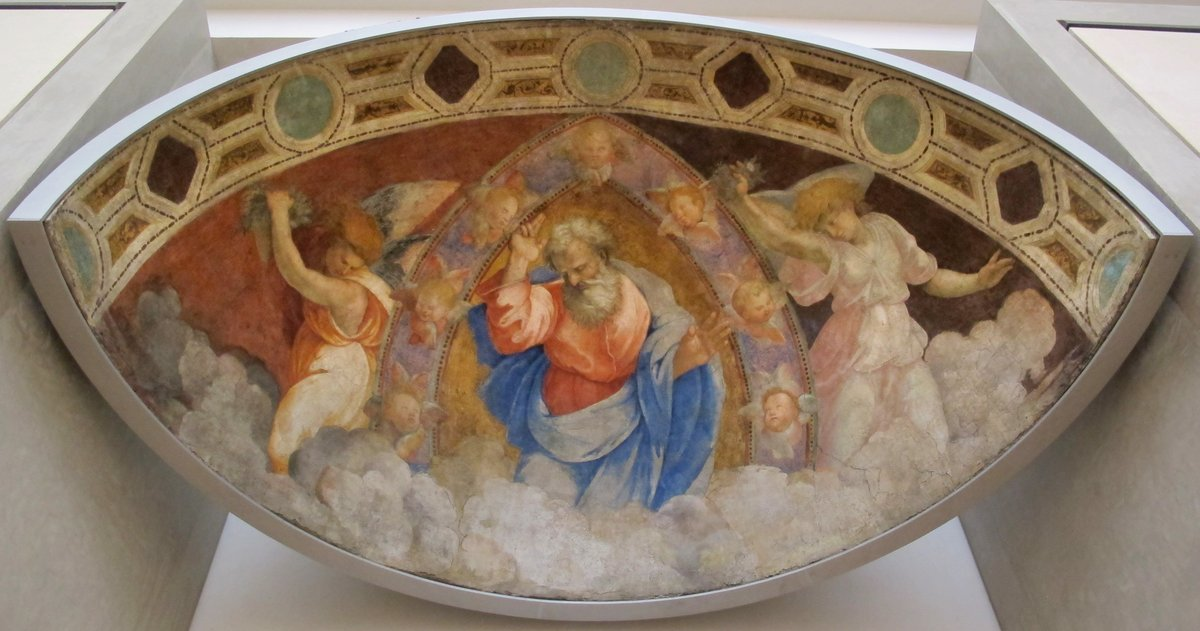 God the Father Blessing among the Angels, fresco by Raphael  #Raphael <br>http://pic.twitter.com/uUGKBGJub4