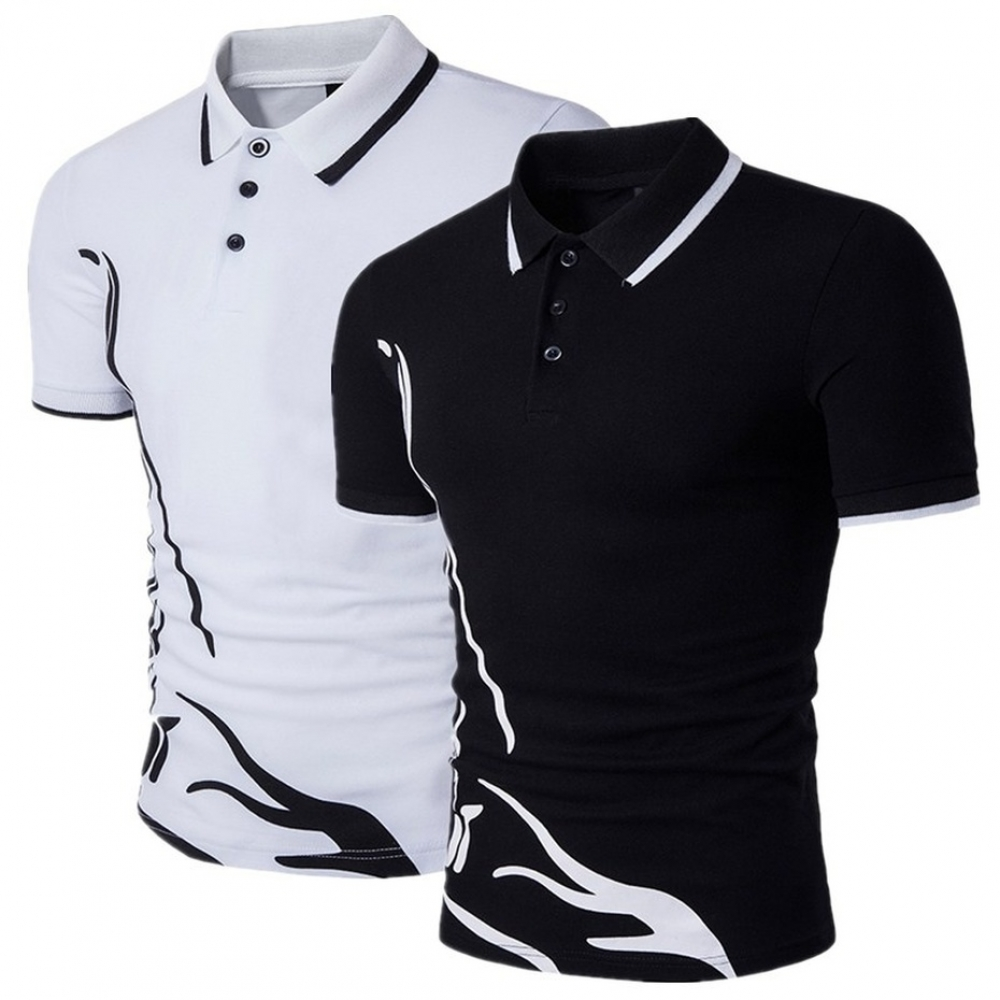 #suitshark short-sleeved casual Slim solid color Polo shirt shrink-proofpic.twitter.com/PhwfdzRT30