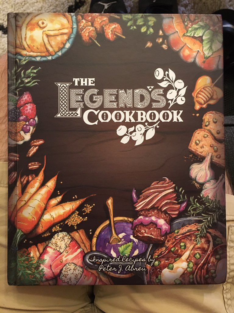 I finally received my copy of The Legend's Cookbook! The production quality is top notch. I'm so excited to cook these recipes. Thanks for such a great cookbook, @LegendsCookbook! 🔥 🔥 🔥