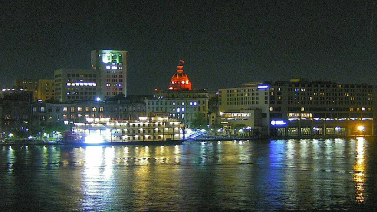We have a nice and quiet night in Savannah. Here is our view of the city from our Savannah Cam: