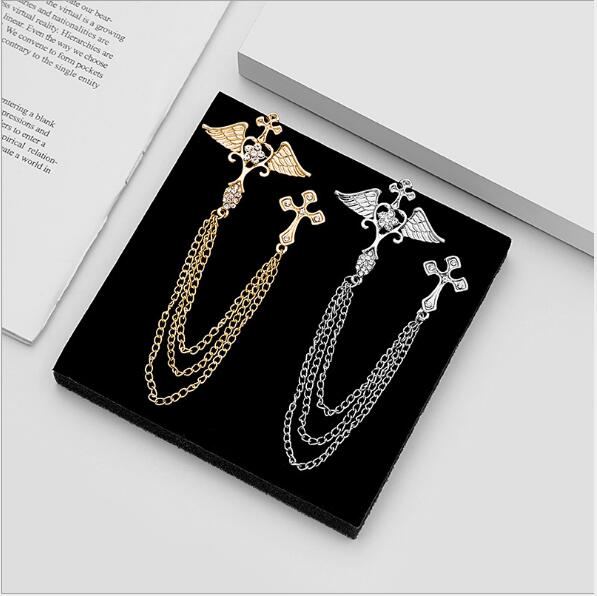 European and American fashion diamond angel wings cross deer head pin British suit chain tassel brooch manufacturer #namenecklaceofficial #necklacenameofficial #namenecklacelover #namenecklacestyle #namenecklace #fashionjewelry #instajewelry #namenecklaces #personalized #jewelry
