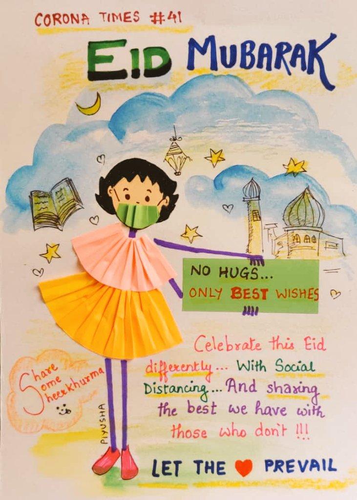 Wish a happy #Eid neha ji and Hon'ble #Priyanka ma'am#EidMubarak  Pic:(SM)pic.twitter.com/NTda8gNVoy
