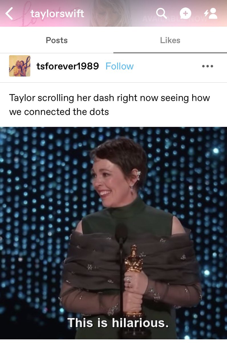 TU | Taylor liked this post on Tumblr confirming that Swifties were correct in connecting the dots about the Jack Leopards & The Dolphin Club LWYMMD cover! <br>http://pic.twitter.com/DQOhMtMG4O