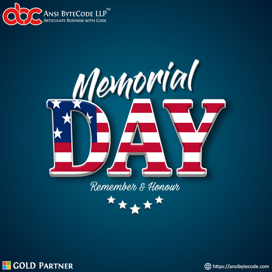 """Home of the Free, Because of the Brave"" Happy Memorial Day..!  #memorialday #memorialday2020 #USA #2K20 #ansibytecode #Ahmedabad #ITCompany #InformationTechnology #microsoftgoldpartner #mspartner<br>http://pic.twitter.com/c7n2sJmIZ3"