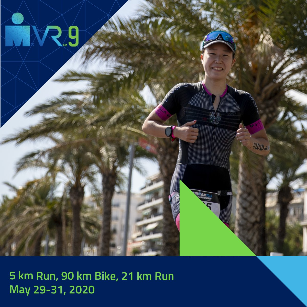 ➡️ Registration is open for IRONMAN VR9! Its a 70.3 simulation, so get prepared to run 5 km, bike 90 km, and run 21 km. Create an account and register for the race at ironmanvirtualclub.com #IRONMANVR9 #AnywhereIsPossible