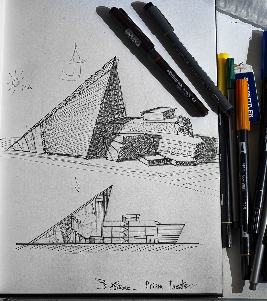 Architecture and urbanism drawing at 6am (I don't know if it look like a real drawing)  #art #architecture pic.twitter.com/Iyc3G2WLvk