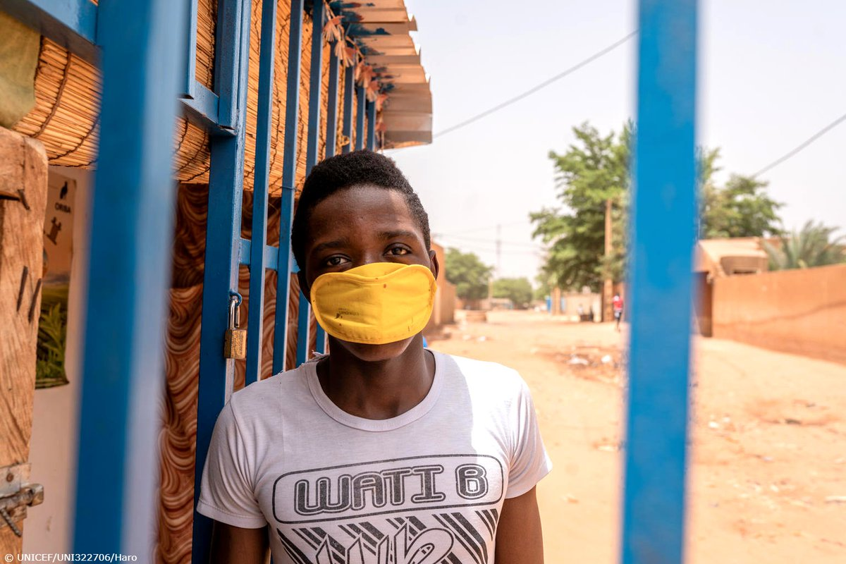 """These are difficult moments for people with small businesses like me, but I understand that this virus is real, and serious."" Hassane, 19, is doing his best amid coronavirus. In Niger, UNICEF is working to keep people like Hassane informed to limit the spread of #COVID19."