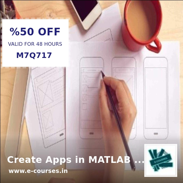 Crazy deal! Don't miss out! Create Apps in MATLAB with App Designer E-course on sale for Rs. 4,379.99  Shop now before we sell out!   https:// shortlink.store/24Vu_-dp99      #ecourse<br>http://pic.twitter.com/m4IT2p9lpw