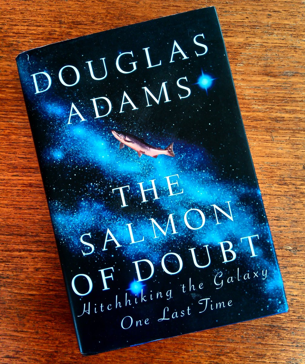 It's been sitting on a shelf unread for FAR too long, but there's no better time to finally start The Salmon of Doubt than on #TowelDaypic.twitter.com/qBYcLsiXCb