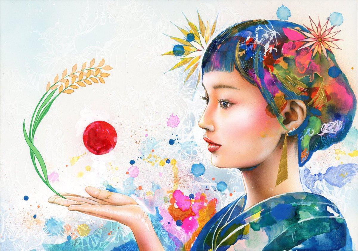 Past Artwork #artwork #art #paint #painting #color #yoheyy #絵 #色 #カラー #稲 #着物 #japan #aclyric #silkscreen #ricepic.twitter.com/2TWjYj5grW