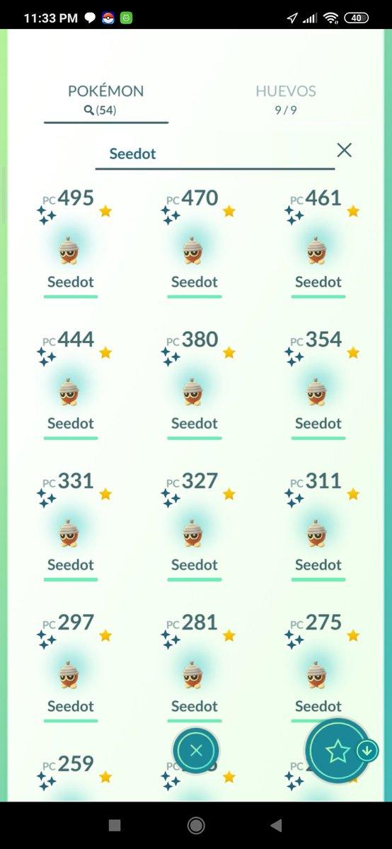 #PokémonGO #PokémonGOCommunityDay #ShinyPokémon   Me fue igual de bien capturado Seedot. pic.twitter.com/f6DQZeq91V
