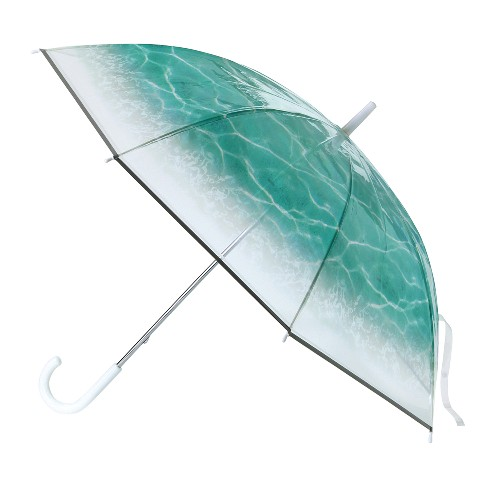 ○。まるで海の中みたいな水面傘。○幻想的なデザインで雨の日の気分も晴れやか。親骨と受け骨は軽くて強く折れにくいグラスファイバーを使用しています。