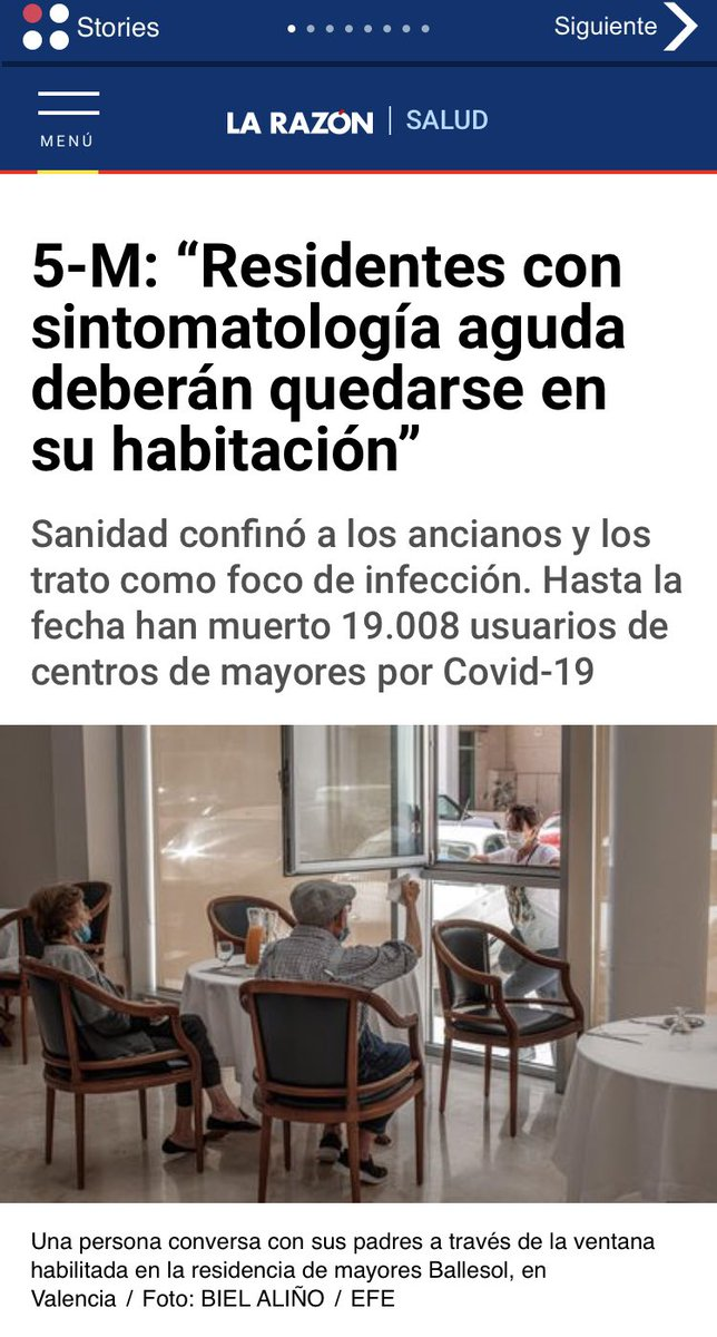 """test Twitter Media - 👉🏻 Entrevista para @helengenillo @larazon_es """"Las #residencias no fueron un foco de infección, sino las grandes olvidadas de esta #crisis sanitaria"""" #COVIDー19 @AESTE_oficial 👨🏼🦳🧑🏼🦳 https://t.co/6LMTxEg3xs"""