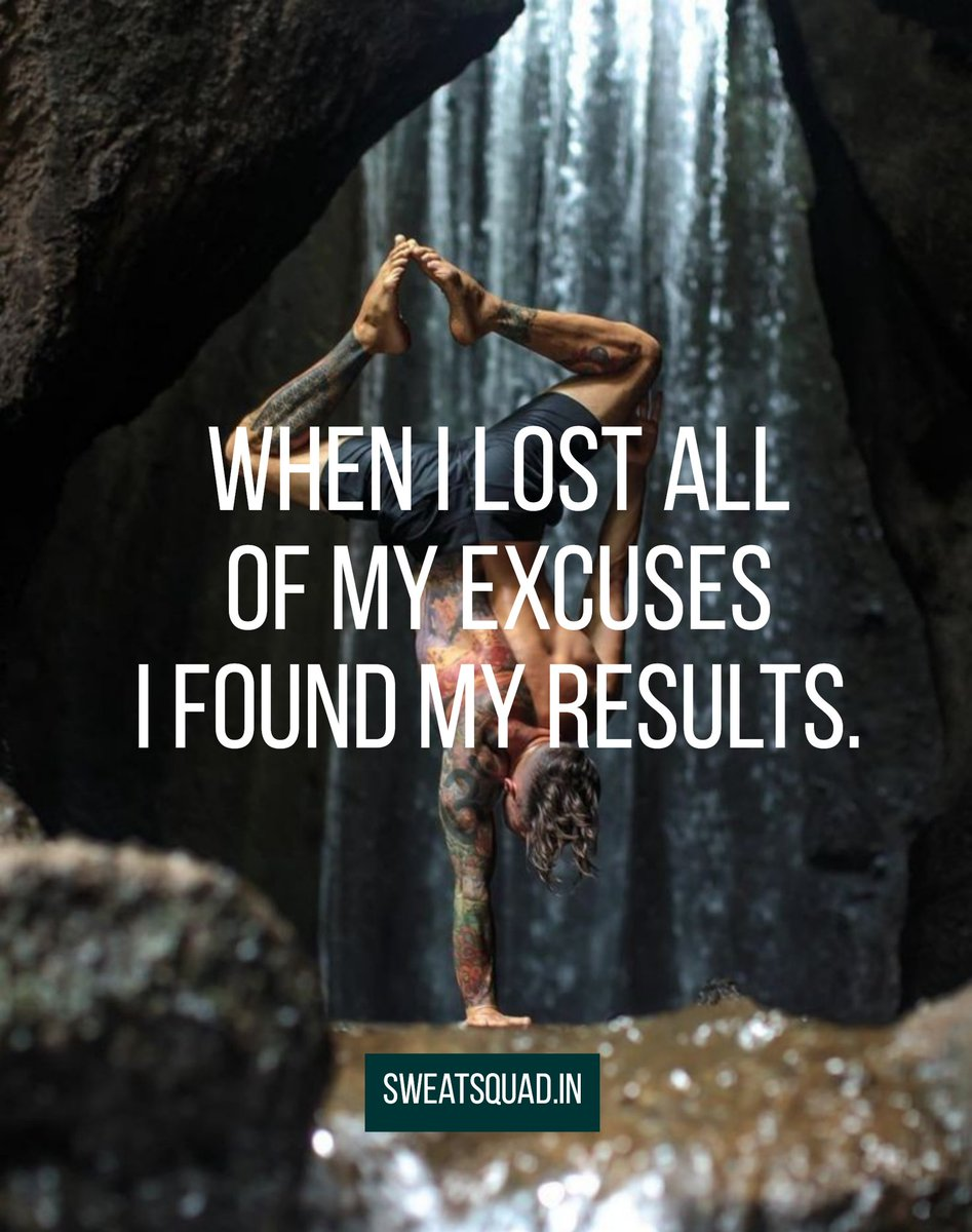 When I lost all of my excuses I found my results. #MondayMotivaton #MotivationalQuotes #gymmotivation pic.twitter.com/4WNbh1rUts
