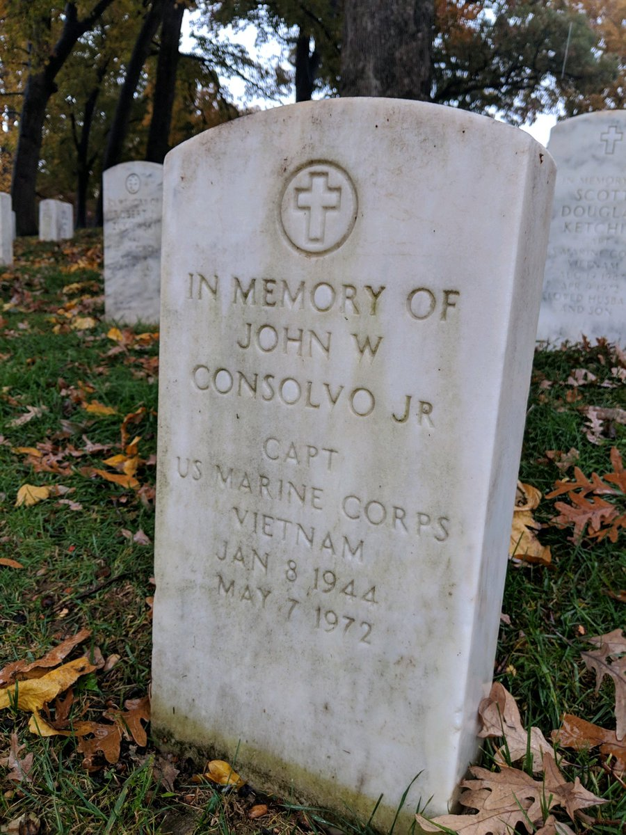@ArlingtonNatl this #MemorialDay I'm remembering USMC Captain John Consolvo...48 years ago he was shot down and never came home. His Mom passed away last year and is now resting in Arlington with her husband the Colonel. Miss them. https://t.co/eHZ9ebikI9