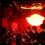 Image for the Tweet beginning: Dancing with disinfectant: China's nightclubs