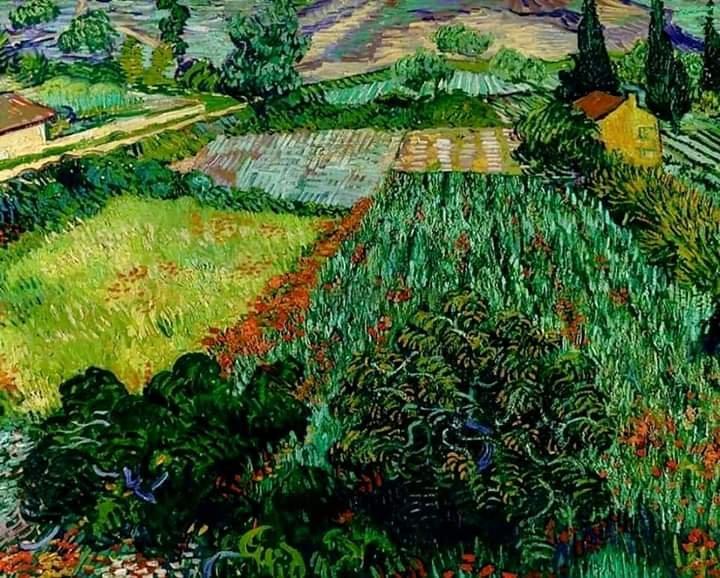 """Art is to console those who are broken by life."" V.v.Gogh   Vincent van Gogh 1853-1890 Dutch painter ""Field with Poppies""  #art #painting @eoff_sylvia @duckylemon @mhall55nine @mervalls @batznatz @MaryBroderson @ampomata @GerberArancio @marialves53 @dianadep1 @marmelyrpic.twitter.com/zV4q9kvsDr"
