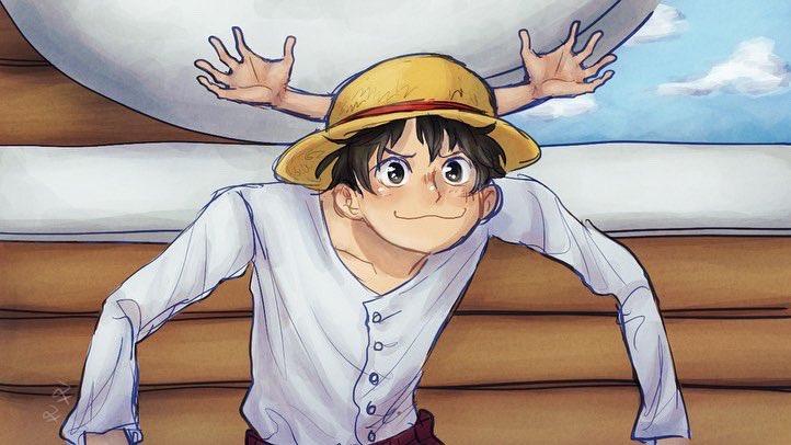 """CHOPPA!"" I redrew one of my favorite screenshots of Luffy :3 #onepieceredraw #onepiece #ワンピースpic.twitter.com/ifxXgWFoSX"