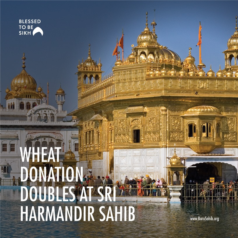Wheat Donation Doubles at Sri Harmandir Sahib  Amid this Coronavirus pandemic, there is a huge drop-down in the offerings of the religious places. But to everyone's surprise,   https://t.co/WM1XybfDbb https://t.co/V64DuGVC4s