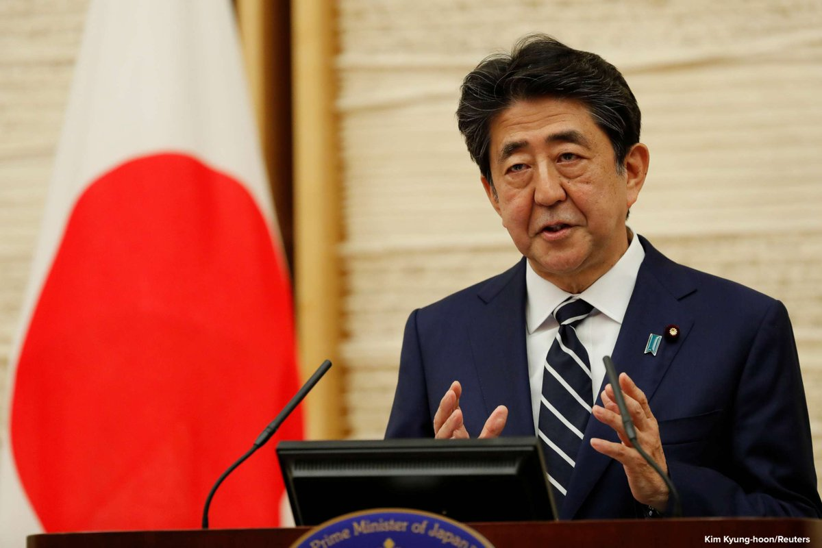 Japanese Prime Minister Shinzo Abe lifts the state of emergency in Tokyo and four other remaining areas, bringing an end to the restrictions nationwide.