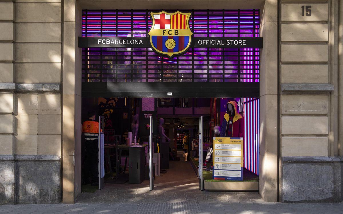 🛍️ El @FCBarcelona_cat reobre avui la Barça Store de Passeig de Gràcia amb totes les mesures de protecció! 👉 https://t.co/6b5tGokOMW  🔵🔴 #FemBarçaFemPenya #ForçaBarça https://t.co/Gx2Ez3pSgx