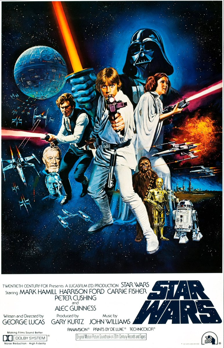 May The 25th 1977 Be The Day #StarWars Was Released Without A Poster In Just 32 Theaters Nationwide And On That Same Date In 1983 #ReturnOfTheJedi Was Released With A Proper Poster In 1,002 Theaters Due To Increased Interest In The Intervening Years https://t.co/L78KulGrBU