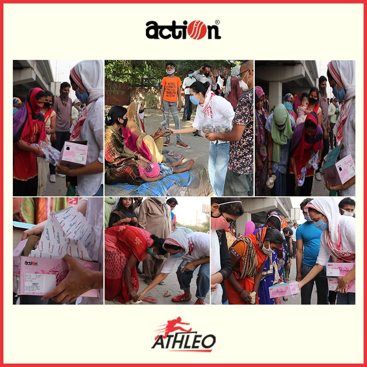 We collaborated with actor Swara Bhasker @ReallySwara , distributed 500 pairs of shoes in Delhi along with the on-ground volunteers of Karwan-E-Mohabbat, towards migrant relief.  @karwanemohabbat We feel privileged and happy to contribute towards the alleviation of their pain. https://t.co/LgxbNXxGmN