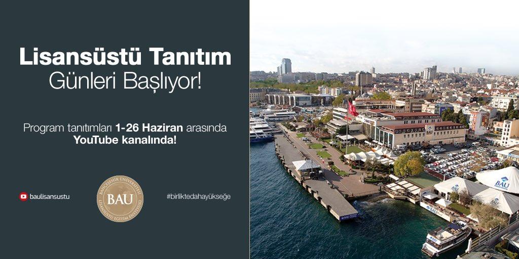 📢 Bahçeşehir Üniversitesi'nde, Lisansüstü Tanıtım Günleri Başlıyor!  Programlar hakkında detaylı bilgiyi 01-26 Haziran tarihleri arasında https://t.co/EWPfvmaF79 kanalından alabilirsiniz!  #birliktedahayükseğe https://t.co/qgGs655heK