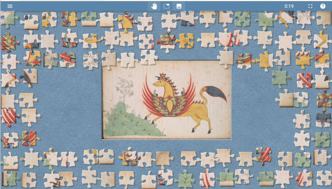 After all the Hari Raya feasting, here is another #jigsaw puzzle to enjoy, of the beautiful winged horse from a royal #Bugis diary from #Bone in #Sulawesi: ~~  All the Bugis manuscripts in the @britishlibrary have been digitised: