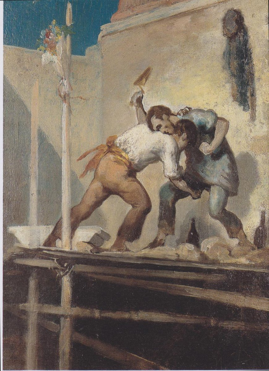 Fighting Bricklayer (XIX cent.) by Honore Daumier  https:// uploads4.wikiart.org/images/honore- daumier/fighting-bricklayer.jpg  …  #wikiart #honoredaumier <br>http://pic.twitter.com/Dj9qhAUZwC