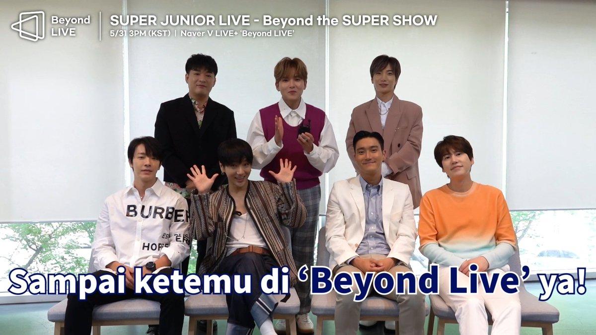 [IND] SUPER JUNIOR LIVE - Beyond The SUPER SHOW : Invitation✉ 5/31 SUN 3PM (KST) 5/30 SAT 11PM (PDT) 5/31 SUN 2AM (EST) ⠀ 🎟Tickets IND👉   #SUPERJUNIOR_BeyondLIVE #Beyond_The_SUPERSHOW #슈퍼주니어 #SUPERJUNIOR #Beyond_LIVE #NAVER #VLIVE