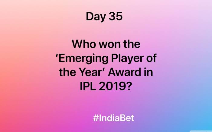 Day 35!   Do you know the answer? Comment & win 3000 IBR!   #ContestAlert #SportsBiz #Cricket #CricketQuiz #IPL2019 https://t.co/zuLw5nQbQ0