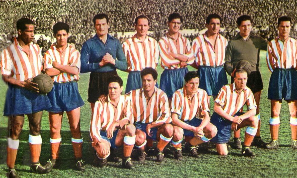 Helenio Herrera's #AtleticoMadrid that won the #LaLiga in 1950 & 1951. pic.twitter.com/etP7UppBEP