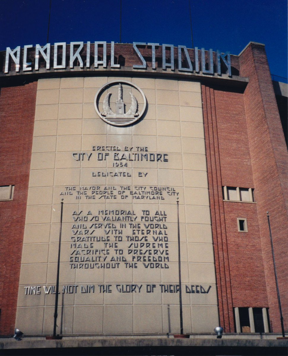 """""""Dedicated As A Memorial To All Who So Valiantly Fought In The World Wars With Eternal Gratitude To Those Who Made The Supreme Sacrifice To Preserve Equality And Freedom Throughout The World—Time Will Not Dim The Glory Of Their Deeds""""—Memorial Stadium's lasting words #MemorialDay https://t.co/eHeXUVaWkQ"""