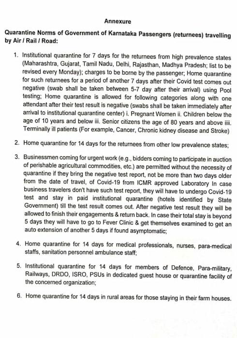 Union Minister Sadananda Gowda lands in Bangalore from Delhi, skips institutional Quarantine. He says as a Pharma Minister Im exempted. Karnataka govt notification doesnt mention pharma sector under Quarantine exemption list.
