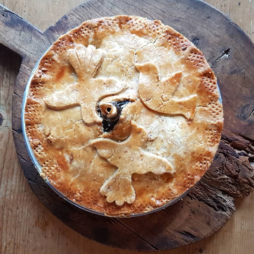 When overwhelmed by external events beyond your control, eat pie. This is chicken and mushroom and it worked for us. #piesolation #consolation #comfortfood #mrsportlyskitchen
