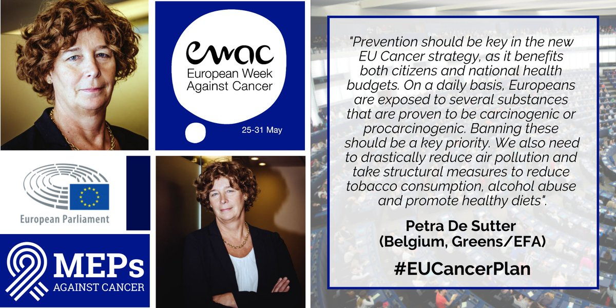 🇧🇪Heres a #EWAC2020 message from @MAC_MEPs Vice-Chair @pdsutter ! ✅#Prevention should be at the💙of the #EUCancerPlan ✅More must be done to tackle hazardous #chemicals, #airpollution, #alcohol abuse, #tobacco consumption & unhealthy #diets ℹ️ bit.ly/ewac2020